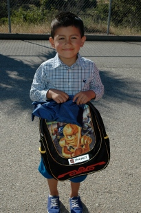 Little boy with backpack