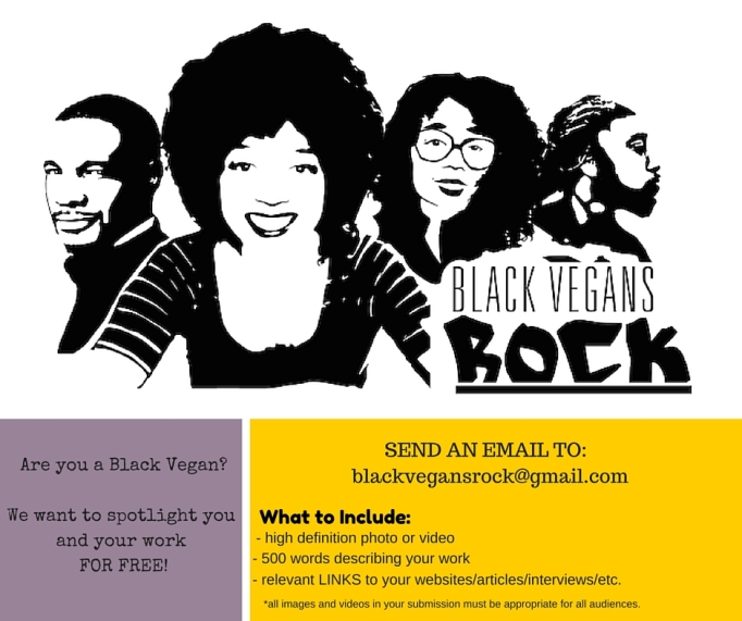 Are you a black vegan who is looking to get your work %22out there?%22